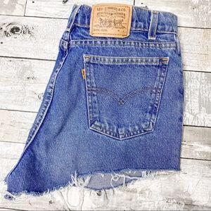 Levi's vintage orange tab cut off denim jeans